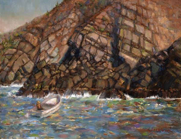 Soaring Cliffs Original Oil Painting