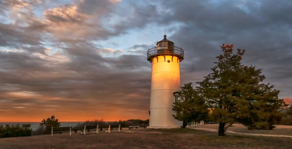 East Chop Light Horizon Glow Art | Michael Blanchard Inspirational Photography - Crossroads Gallery