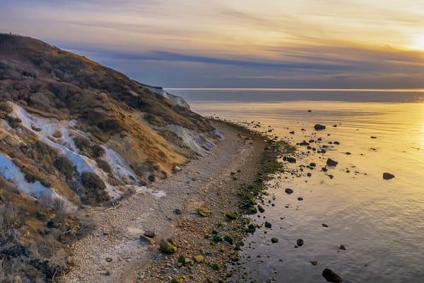 Gay Head Cliffs Golden Sunset