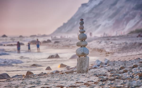 Moshup Beach Summer Cairn Art | Michael Blanchard Inspirational Photography - Crossroads Gallery