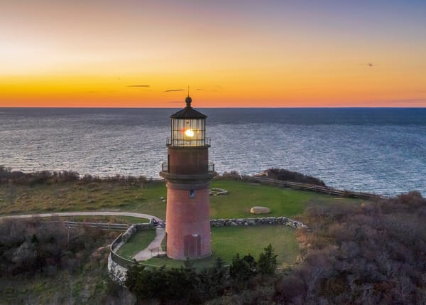 Gay Head Light Winter Sunset Art | Michael Blanchard Inspirational Photography - Crossroads Gallery