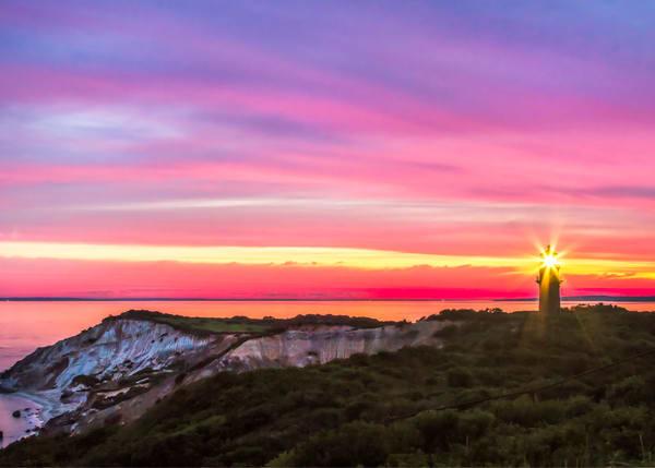 Gay Head Light Magenta Sunrise Art | Michael Blanchard Inspirational Photography - Crossroads Gallery