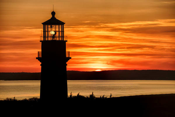 Gay Head Light Sunrise Silhouette Art | Michael Blanchard Inspirational Photography - Crossroads Gallery