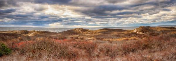 Moshup Beach Path Panorama Art | Michael Blanchard Inspirational Photography - Crossroads Gallery