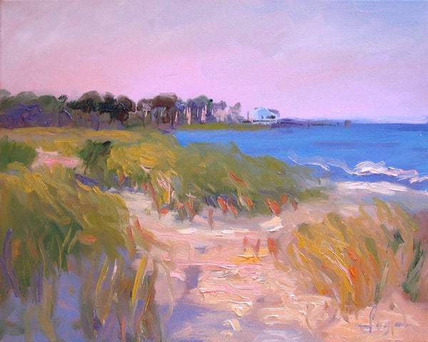Mathews Painting, Bethel Beach Art Print by Dorothy Fagan