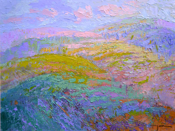 Abstract Mountain Landscape Painting Art Print by Dorothy Fagan