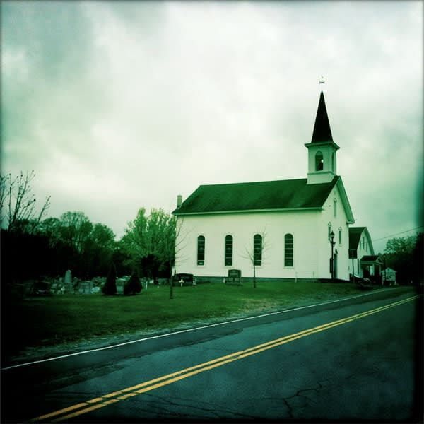 Grahamsville Reformed Church Photo Tile - for sale as 4x4 and 6x6-inch ceramic tiles
