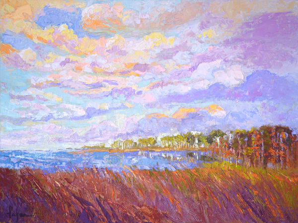 Beautiful Marsh Painting, Canvas Art Print Inlet II by Dorothy Fagan Collection