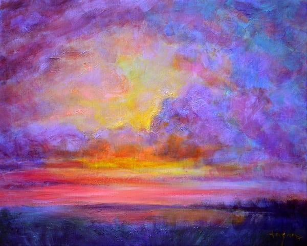 Dramatic Sunset Clouds Painting Art Print by Dorothy Fagan