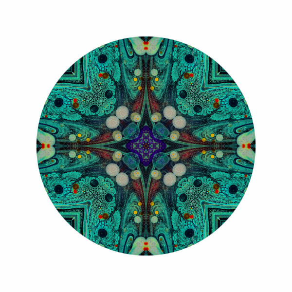 Acid Diamond Teal M2 - Modern Mandala | A Psychedelic Art Project by Cameron Emmanuel