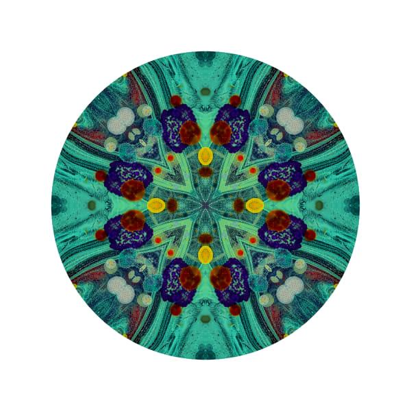 Acid Diamond Teal M3 - Modern Mandala | A Psychedelic Art Project by Cameron Emmanuel