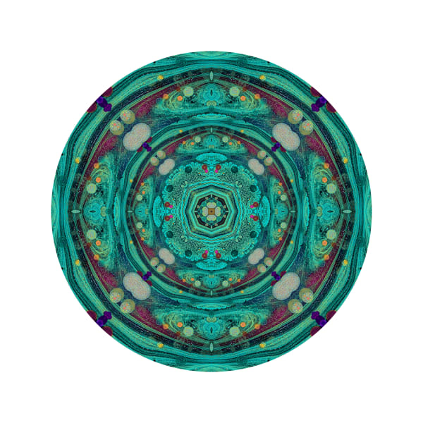 Acid Diamond Teal M4 - Modern Mandala | A Psychedelic Art Project by Cameron Emmanuel