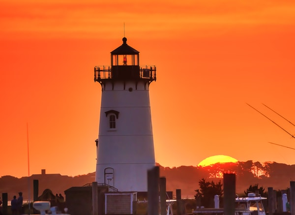 Edgartown Light Morning Sun Art | Michael Blanchard Inspirational Photography - Crossroads Gallery