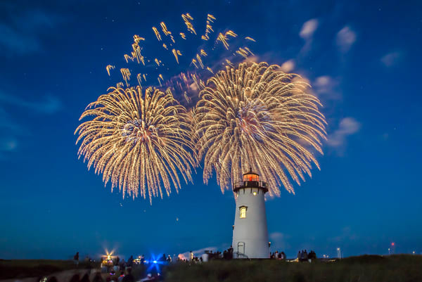 Edgartown Light Fireworks Art | Michael Blanchard Inspirational Photography - Crossroads Gallery