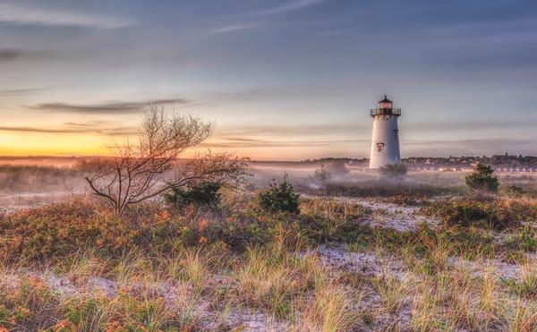 Edgartown Light Morning Mist Art | Michael Blanchard Inspirational Photography - Crossroads Gallery