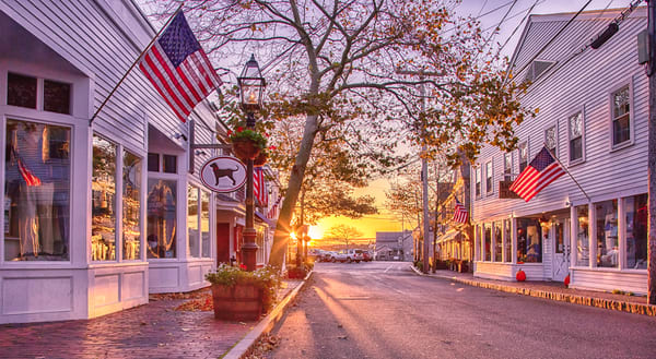 Edgartown Main Street Morning Art | Michael Blanchard Inspirational Photography - Crossroads Gallery