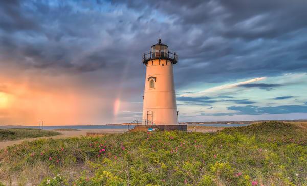 Edgartown Light Rainbow Roses Art | Michael Blanchard Inspirational Photography - Crossroads Gallery