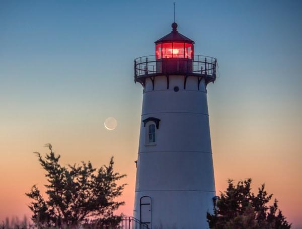 Edgartown Light Moonrise Art | Michael Blanchard Inspirational Photography - Crossroads Gallery