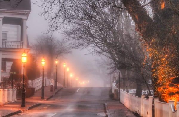 Edgartown North Water Street Fog Art | Michael Blanchard Inspirational Photography - Crossroads Gallery