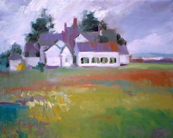 Mathews County Art Print Painting, Green Pastures by Dorothy Fagan