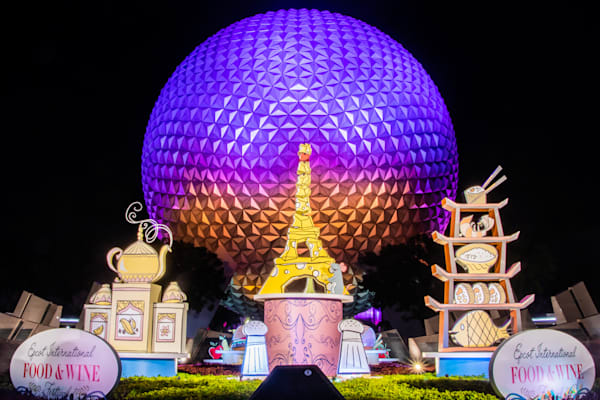Spaceship Earth Food and Wine | Epcot Center Photos