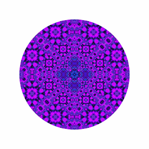 Purple Star Coral M1 - Modern Mandala | A Psychedelic Art Project by Cameron Emmanuel