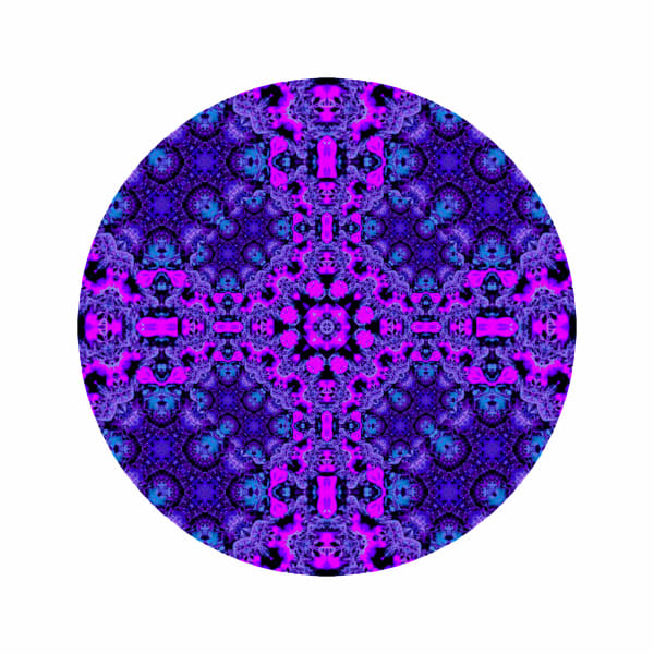 Purple Star Coral M2 - Modern Mandala | A Psychedelic Art Project by Cameron Emmanuel