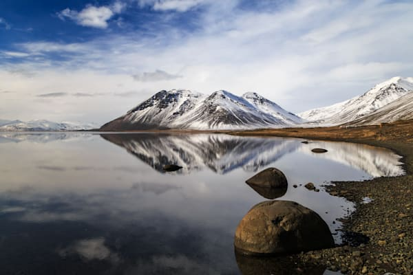 Calm mountain reflection in Iceland