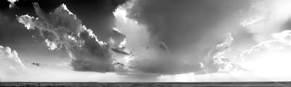 Luminous Light Collection - bw | Storm in the West, the Kansas Flint Hills. Awesome thunderstorm in black and white photograph by David Zlotky.