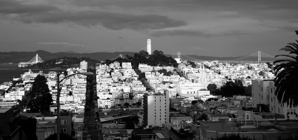 Looking East From Russian Hill Photography Art | Josh Kimball Photography