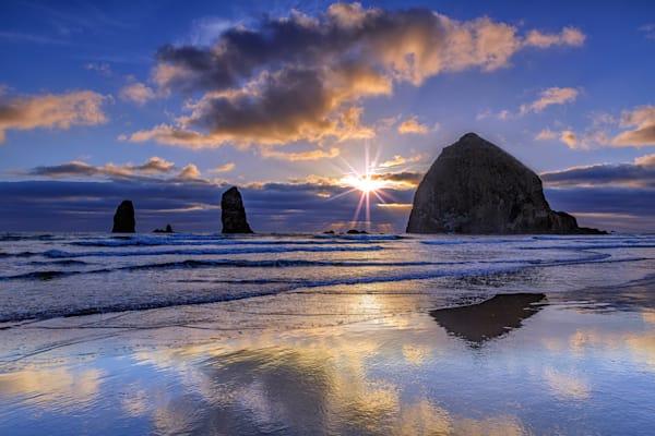 Haystack Sunset by Rick Berk