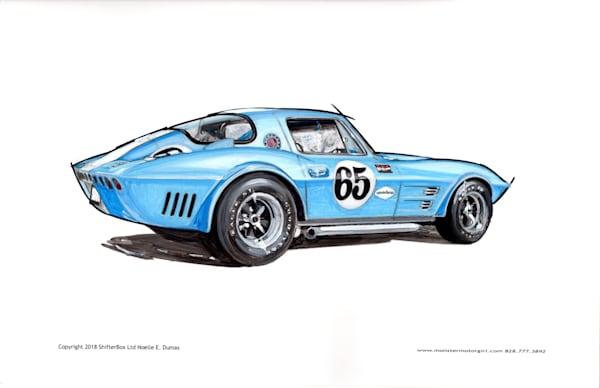 C3 Grandsport Racer Art | Motorgirl Studios