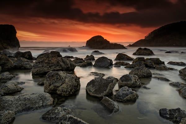 Indian Beach Sunset by Rick Berk