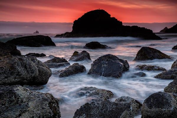 Red Tide in Ecola by Rick Berk