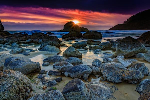Sunset on Indian Beach, by Rick Berk