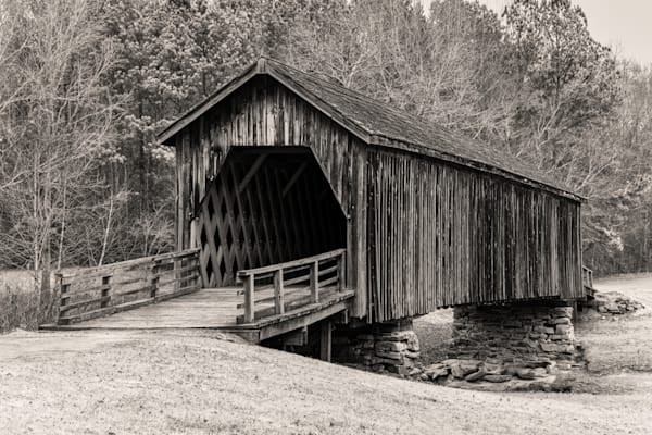 Auchumpkee Creek Covered Bridge photography print