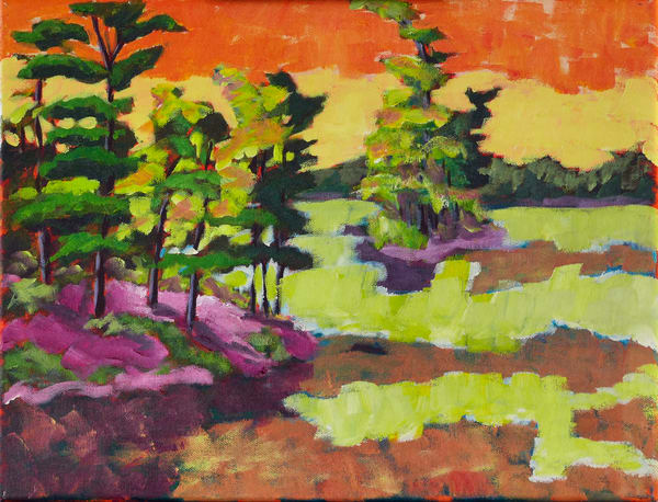 Kawartha Sunrise post-impressionist plein air painting