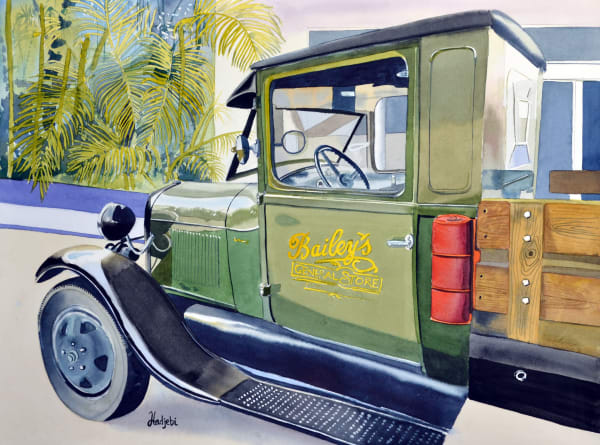Bailey's Truck 2 - watercolor