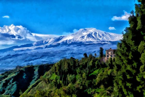 Mt Etna from Taormina