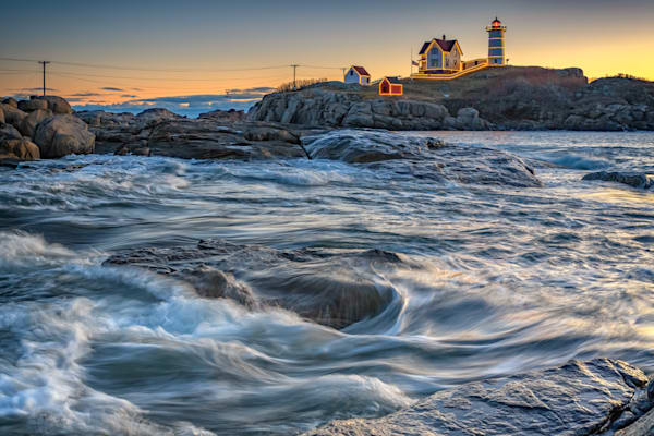 December Morning at the Nubble by Rick Berk