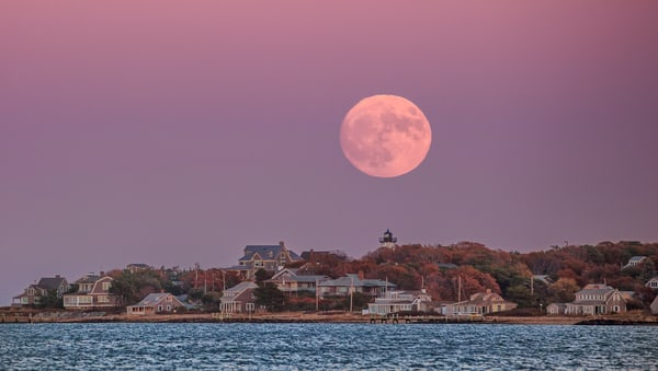 East Chop Magenta Moonrise Art | Michael Blanchard Inspirational Photography - Crossroads Gallery