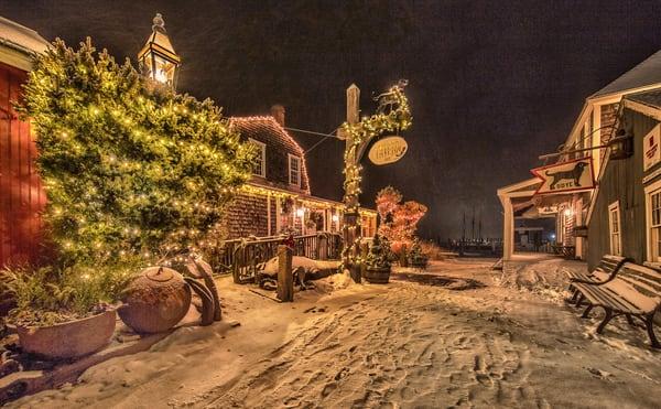 Black Dog Christmas Snow Art   Michael Blanchard Inspirational Photography - Crossroads Gallery