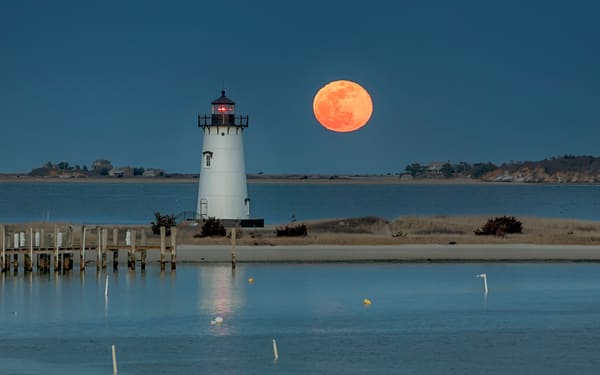 Edgartown Harbor Super Moon Art | Michael Blanchard Inspirational Photography - Crossroads Gallery
