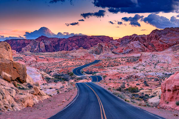 Dusk On The Open Road by Rick Berk