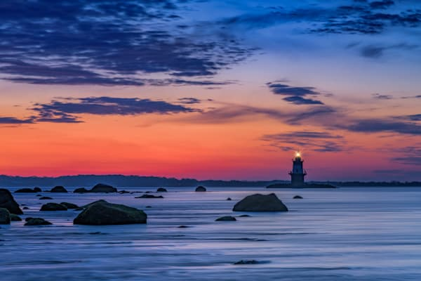 Orient Point Lighthouse at Dawn by Rick Berk
