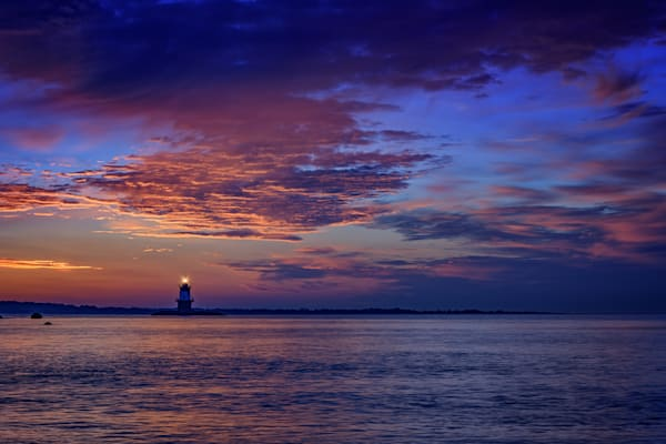Orient Point Lighthouse at Sunrise by Rick Berk