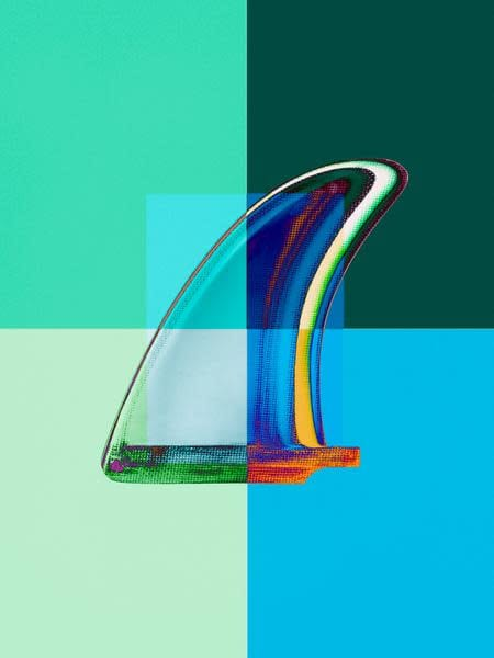 Interaction: Blue and Green Single Fin