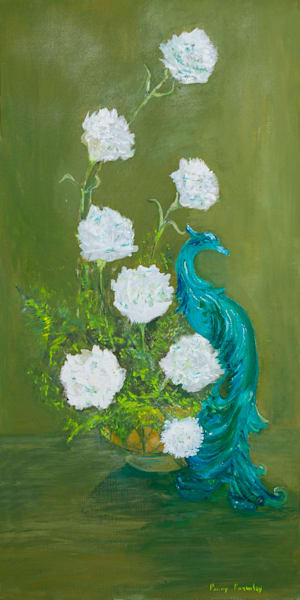 Peacock Flowers by Penny Parmley