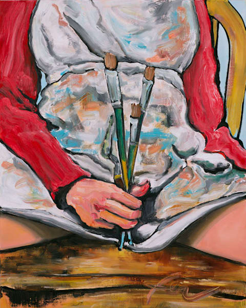 Paint Like a Girl Painting | Fer Caggiano Art