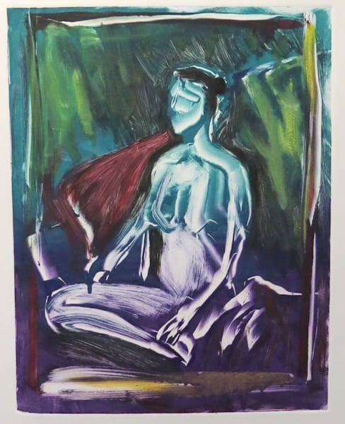 Sitting Woman Painting